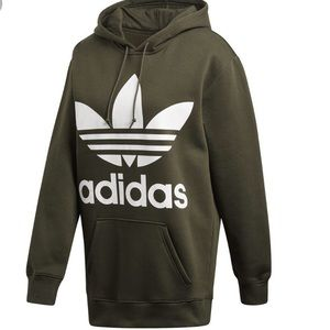 Adidas Originals Men Olive Green Trefoil Hoody L